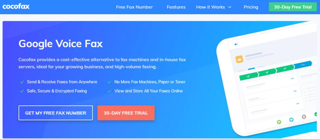 cocofax google voice fax