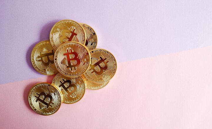bitcoins-on-pink